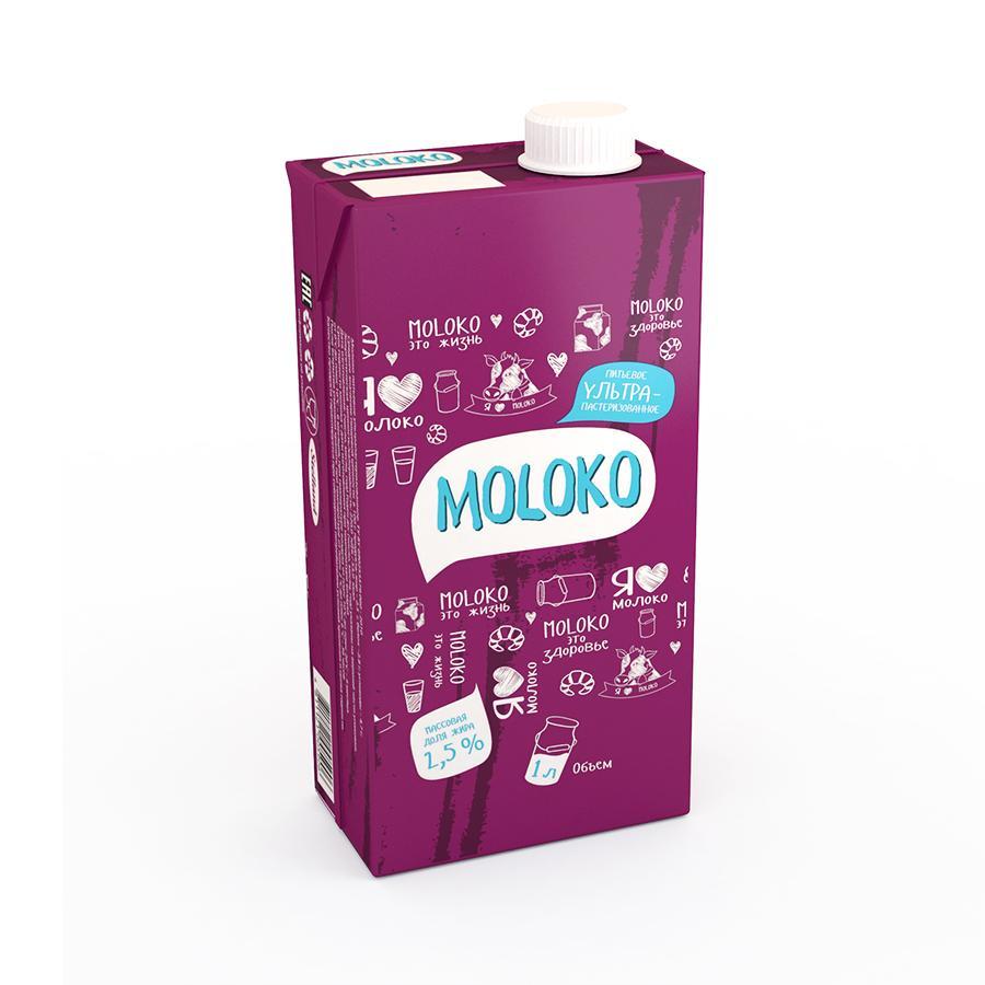 Молоко Солигорск ультрапастеризованное 2,5%