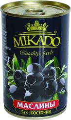 Маслины черные Mikado без косточки