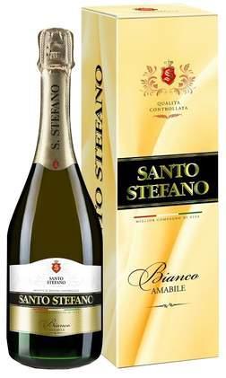 Вино игристое Santo Stefano Bianco белое полусладкое 8%