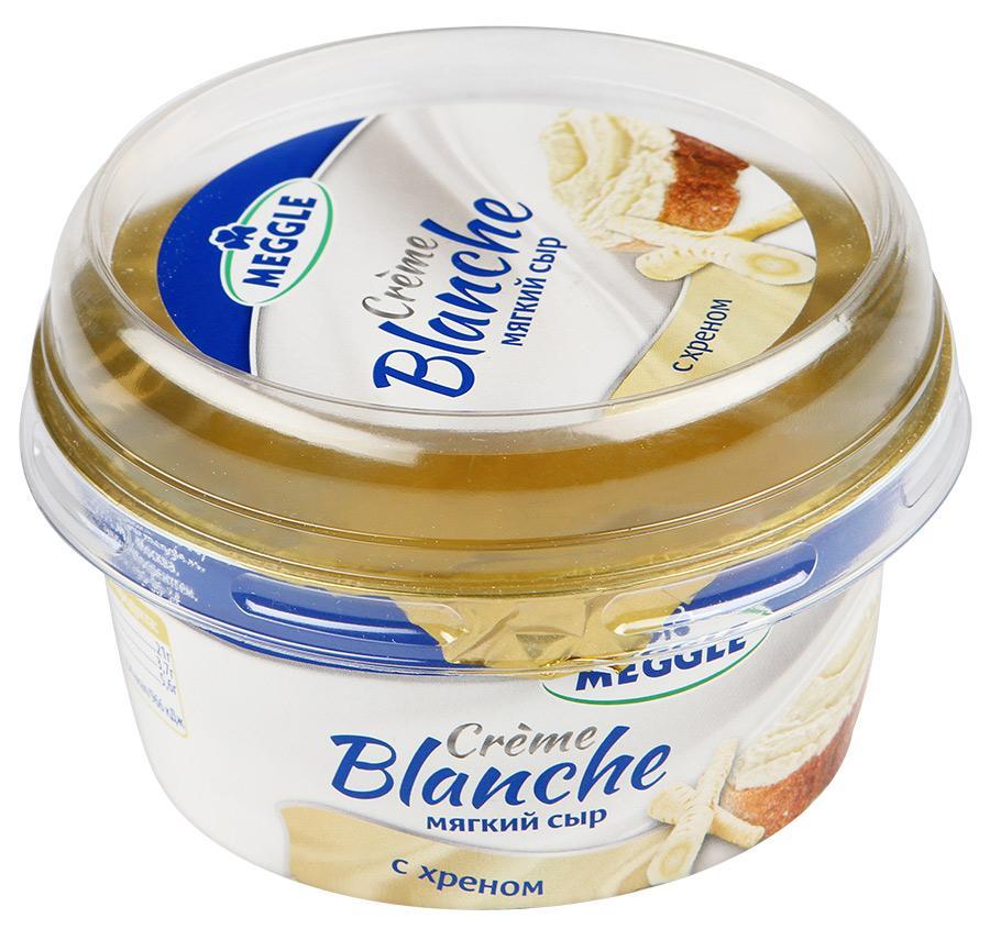 Сыр Meggle Creme Blanche мягкий с хреном