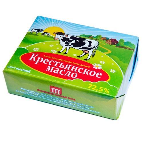Сливочное масло Мытищинский Молочный Завод Крестьянское 72,5%