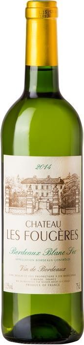 Вино Шато Ле Фужер / Chateau Les Fougeres,  Совиньон Блан, Семийон,  Белое Сухое, Франция