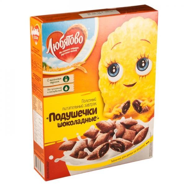 Подушечки Любятово шоколадные