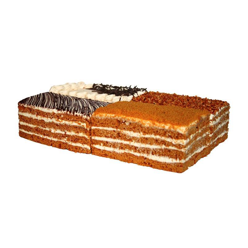 Торт Слоянка Медовик ассорти с нежным кремом