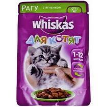 Корм для котят Whiskas с рагу ягненка