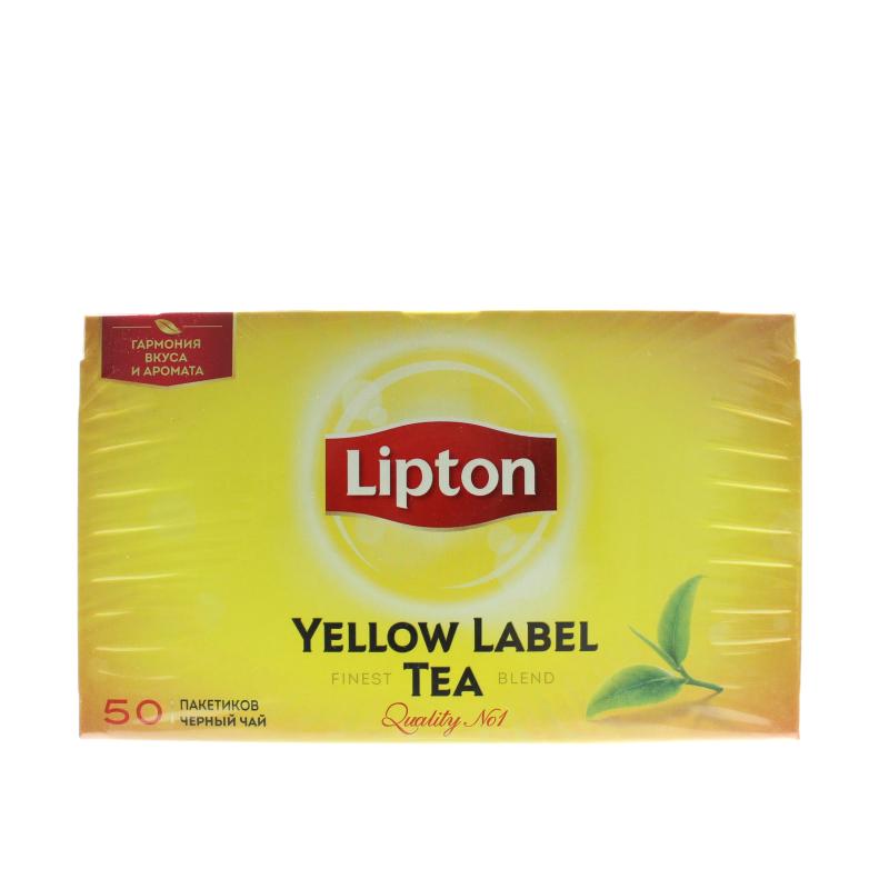 Чай черный Lipton Yellow Label 50 пакетов 100 гр