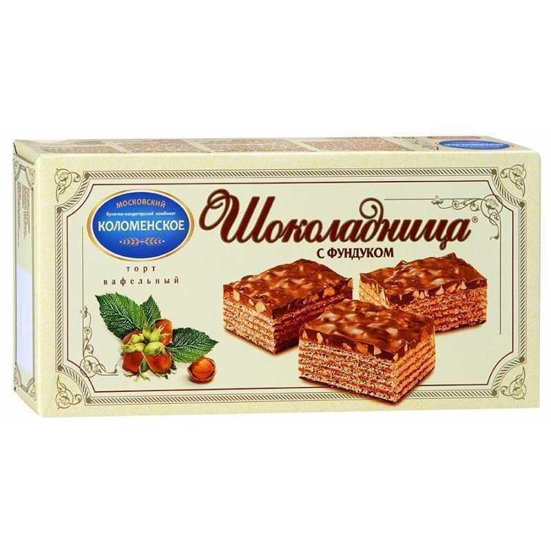 Торт Коломенское Шоколадница вафельный с фундуком