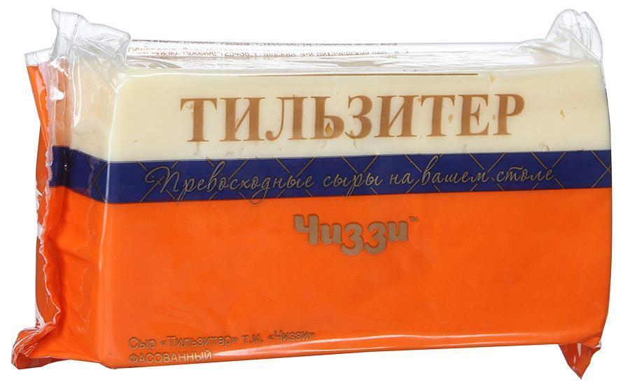 Сыр Чиззи Тильзитер 45%