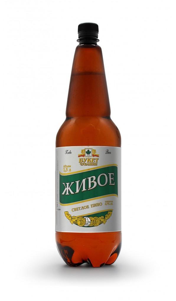 Пиво Букет Чувашии Живое фильтрованное непастеризованное 4,7%