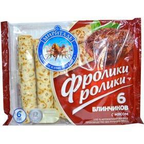 Готовое блюдо Мириталь Блины Фролики ролики с мясом