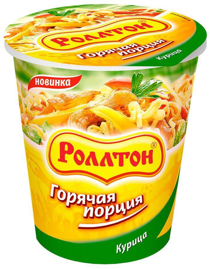 Готовое блюдо Роллтон Горячая порция Лапша вкус курица