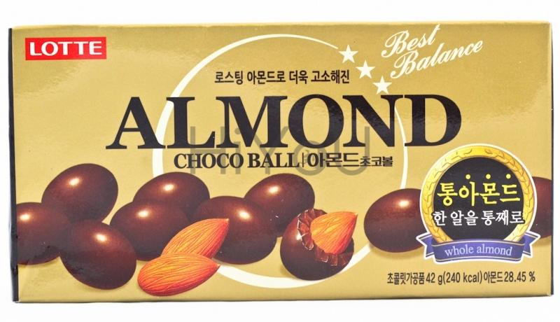 Конфеты Лотте Almond миндаль в молочном шоколаде