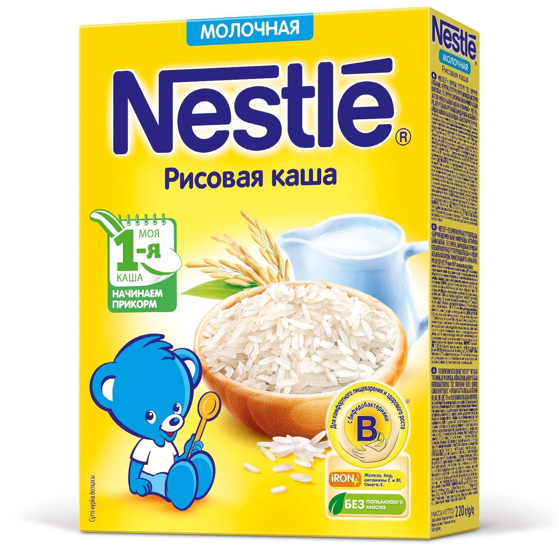 Каша Nestle молочная рисовая с 4 месяцев