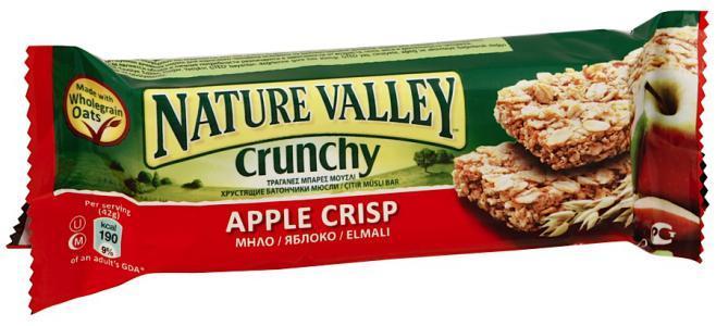 Батончик Nature Valley мюсли яблоко