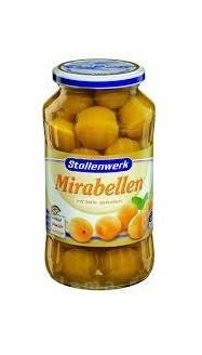 Слива Stollenwerk Мирабель жёлтая с косточкой с сахаром 720г