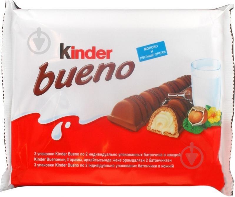 Батончик Kinder Bueno молоко и лесные орехи