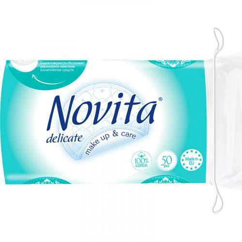 Ватные диски Novita Delicate 50 шт