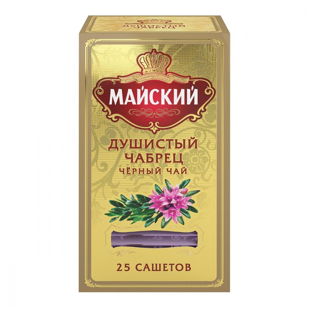 Чай Майский Душистый Чабрец, черный ароматизированный, 25 пакетиков
