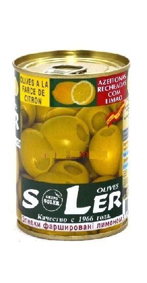 Оливки Soler с лимоном 280г