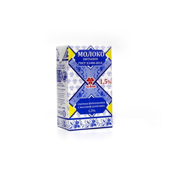 Молоко Тяжин ультрапастеризованное 1.5%