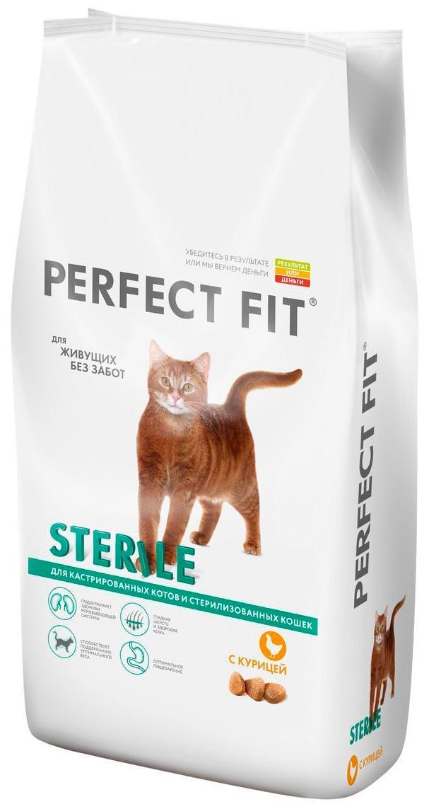 Корм Perfect Fit сухой для кошек Sterile с курицей
