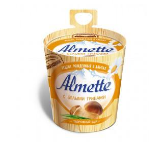 Сыр ALMETTE творожный с белыми грибами 150гр
