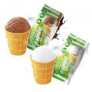 Мороженое Белая бяроза пломбир шоколадный вафельный стакан