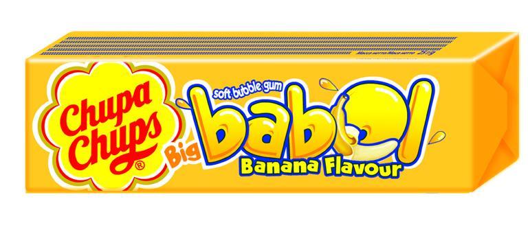 Жевательная резинка Chupa Chups Big Babol со вкусом банана
