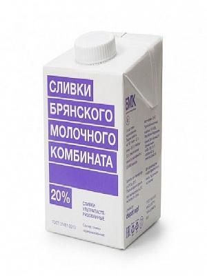 Сливки Брянского молочного комбината 20%