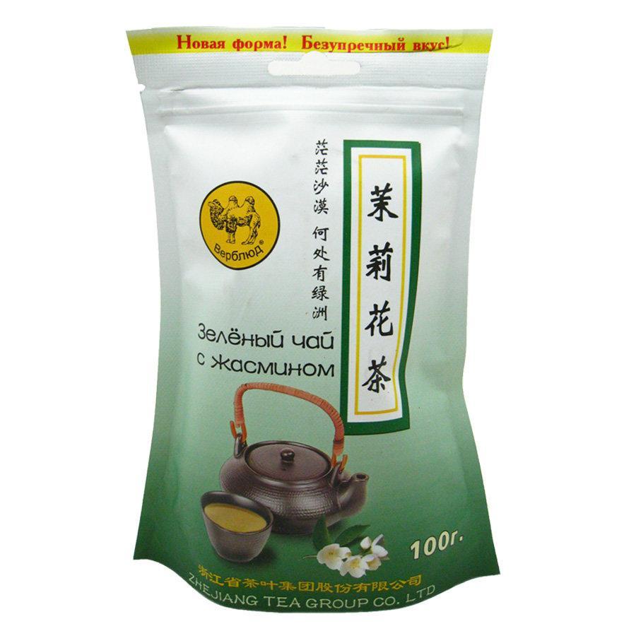 Чай Верблюд зеленый с жасмином листовой