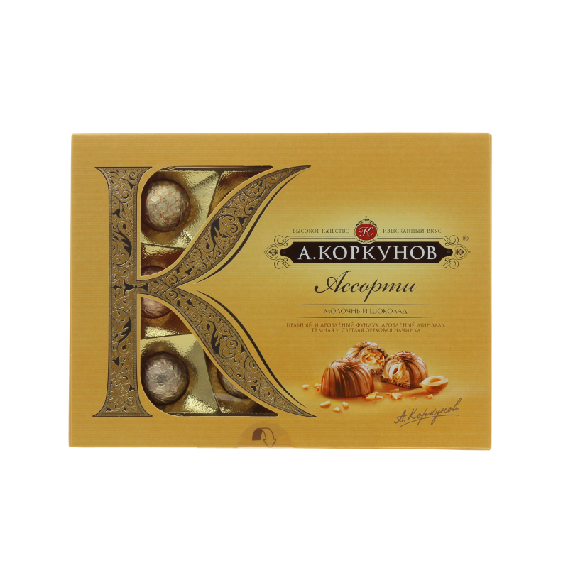 Конфеты Коркунов Ассорти молочный шоколад 108 г.