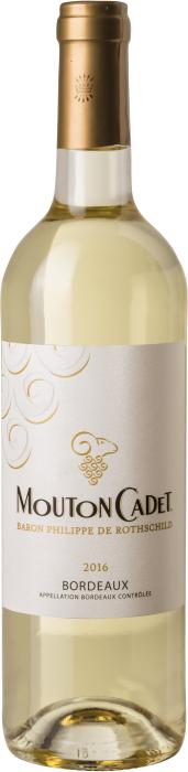 Вино Мутон Каде Бордо Блан / Mouton Cadet Bordeaux Blanc,  Совиньон Блан, Мюскадель, Семийон,  Белое Сухое, Франция