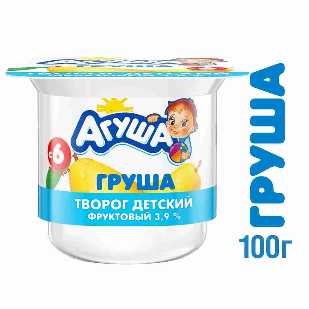 Творог Агуша фруктовый 3,9%