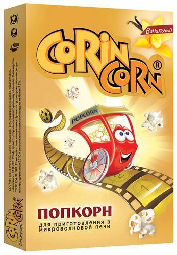 Попкорн CorinCorn Ванильный попкорн для микроволновой