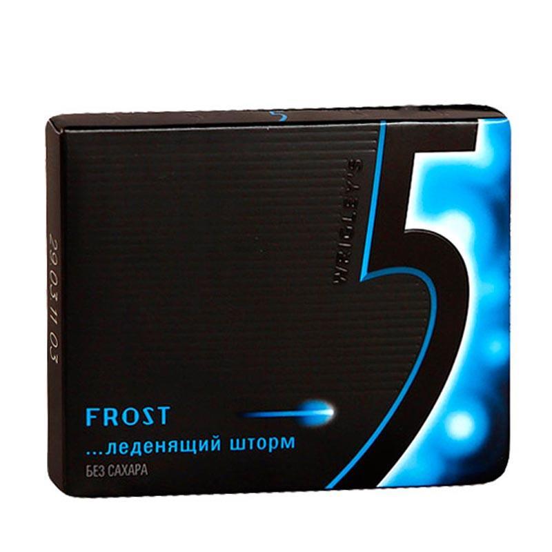 Жевательная резинка Wrigley's 5 Frost Леденящий шторм Без сахара 10шт.