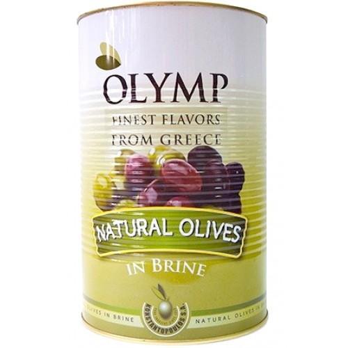 Маслины Olymp Naturales Olives c косточкой в рассоле
