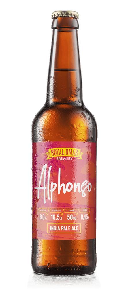 Пиво Royal Omar Alphonso IPA светлое нефильтрованное 6%