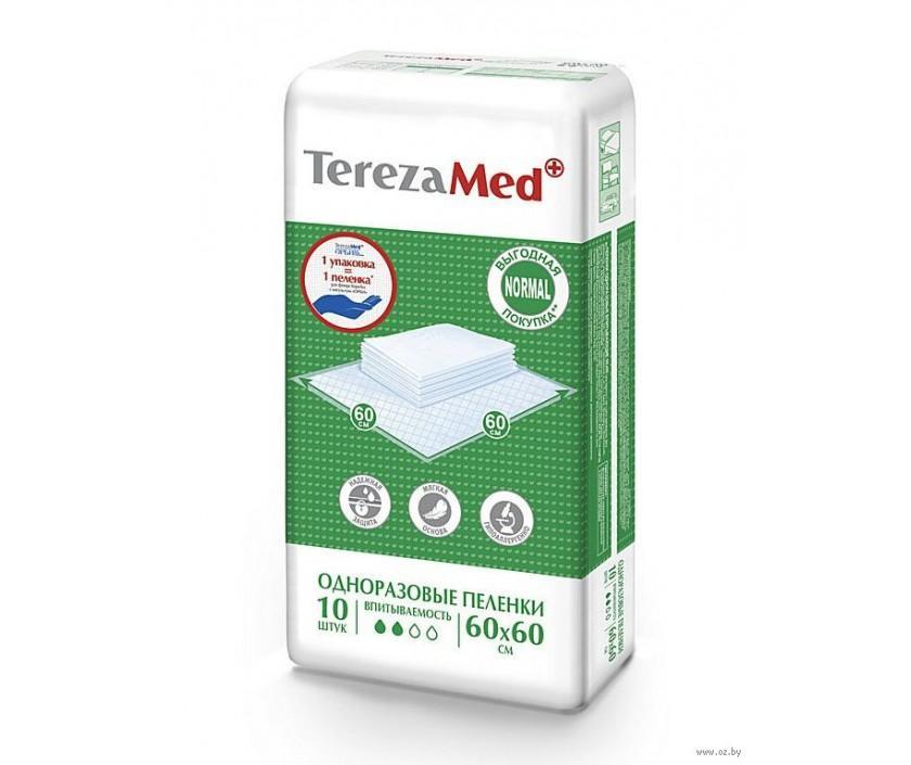 Пеленки одноразовые Tereza Med Normal 60x60см, 10шт