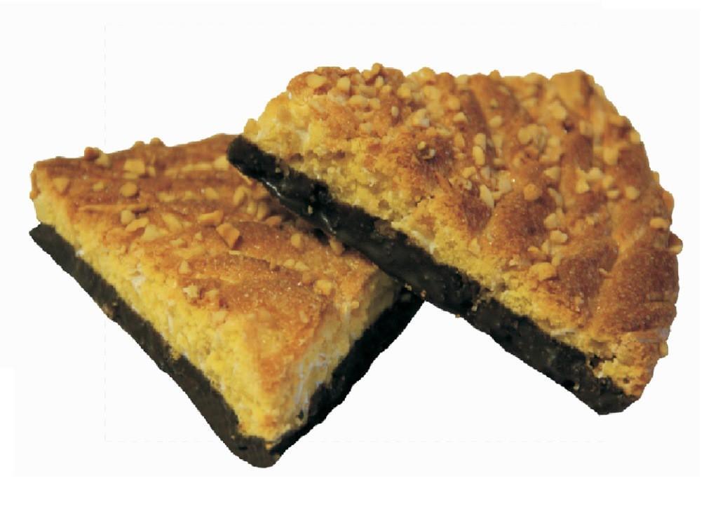 Печенье Пекур Найз-Ми со вкусом клуники, глазированные