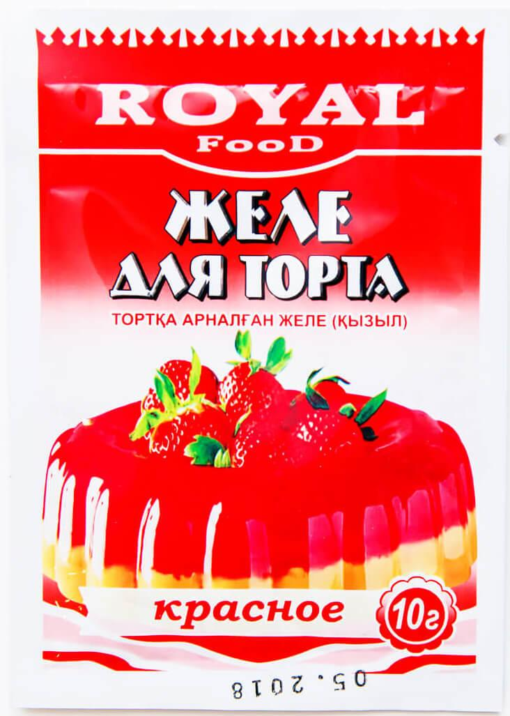 Желе Royal Food для торта красное