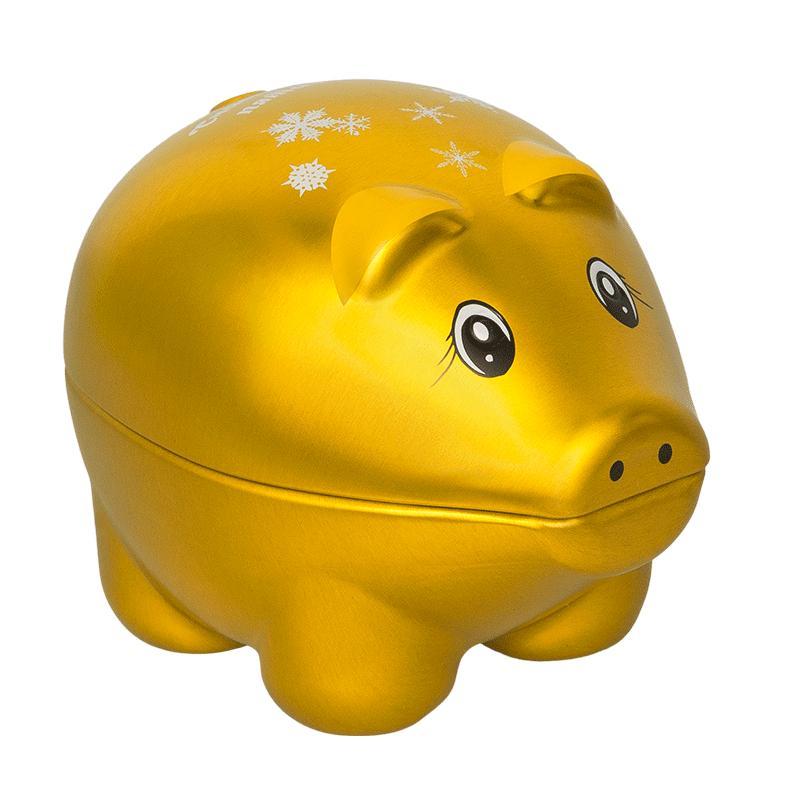 Чай черный Hilltop Крупнолистовой земляника со сливками Символ года Золотой Свинка-сувенир с пожеланиями 30 гр
