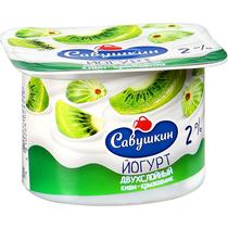Йогурт Савушкин Двухслойный киви крыжовник 2%