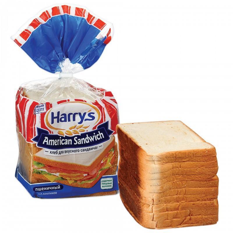 Сэндвичный хлеб пшеничный  Harry's 470 гр.
