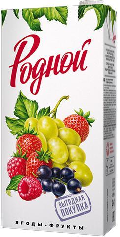 Напиток Родной Сокосодержащий ягоды фрукты