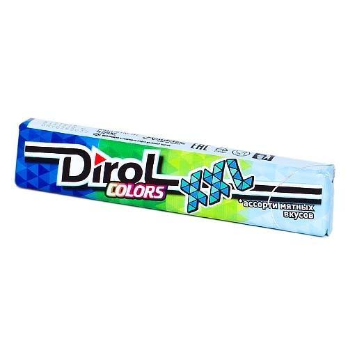 Жевательная резинка Dirol Colors XXL ассорти мятных вкусов