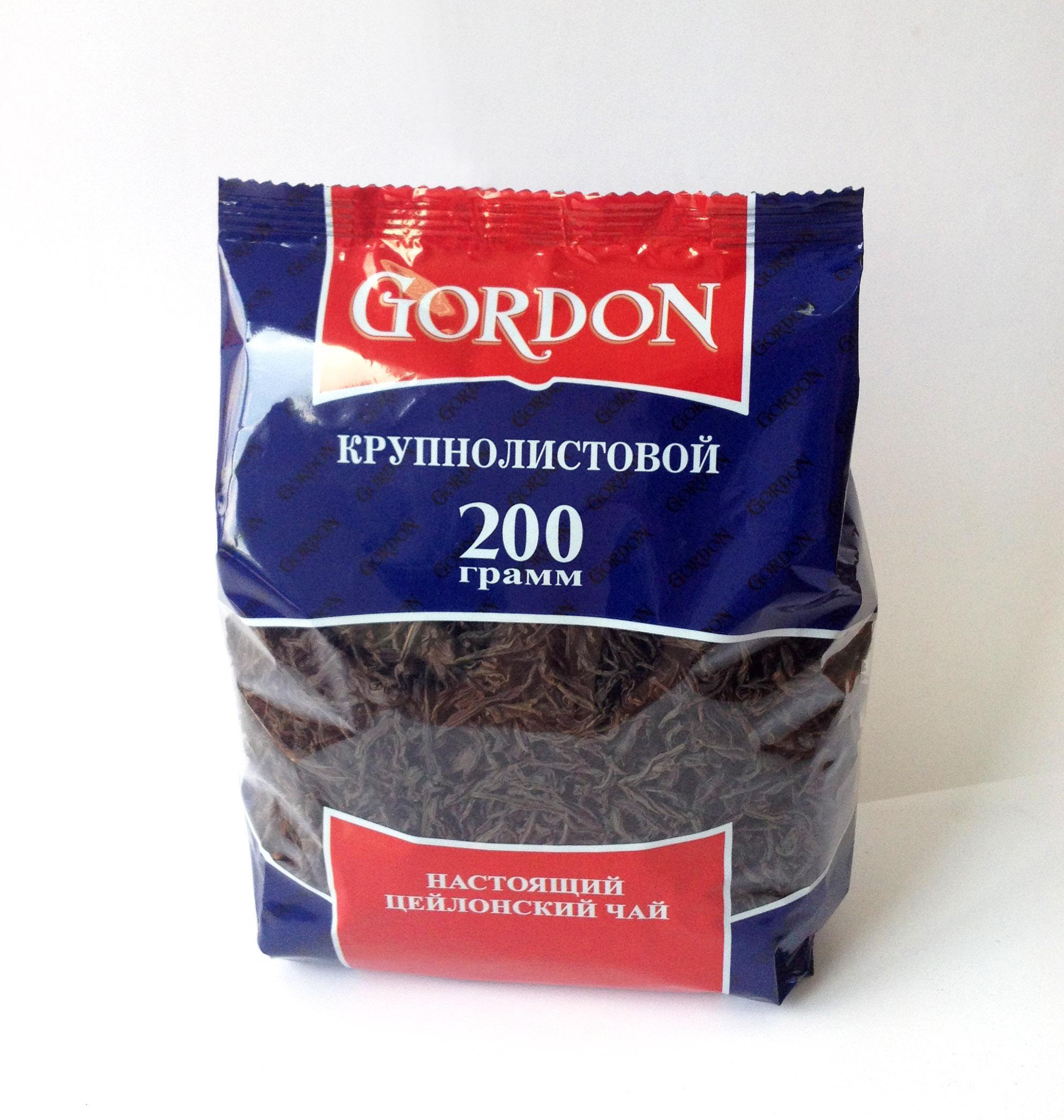 Чай черный Gordon крупнолистовой