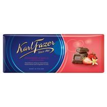 Шоколад Karl Fazer молочный с клубникой 190 гр.