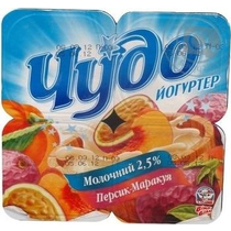 Йогуртер Чудо Сливочный персик маракуйя 2,5% 115 г