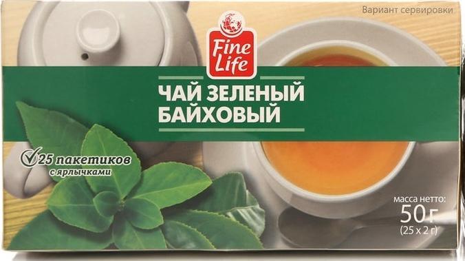 Чай Fine Life китайский зеленый байховый в пакетиках