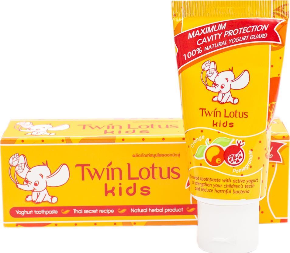 Зубная паста Twin Lotus Kids Апельсин и Гранат от 3-10 лет